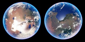 Terraforming of Mars ie transforming Mars through human intervention