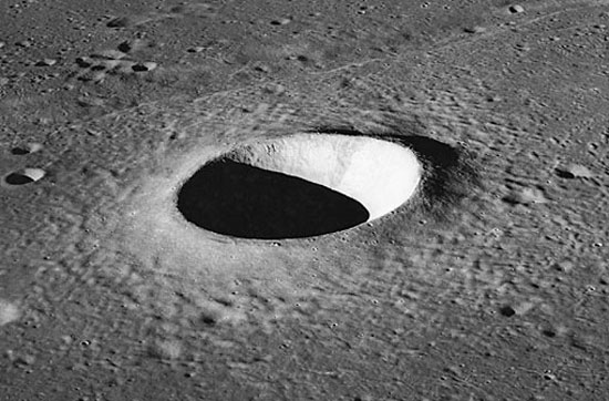 A typical moon crater (No different from earthern craters)