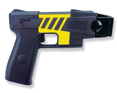 Taser gun that's effective in disabling men/women on loose. It gives a huge electric shock in the body of victim but never kills
