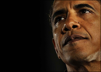Obama's teardrops for his grandmother